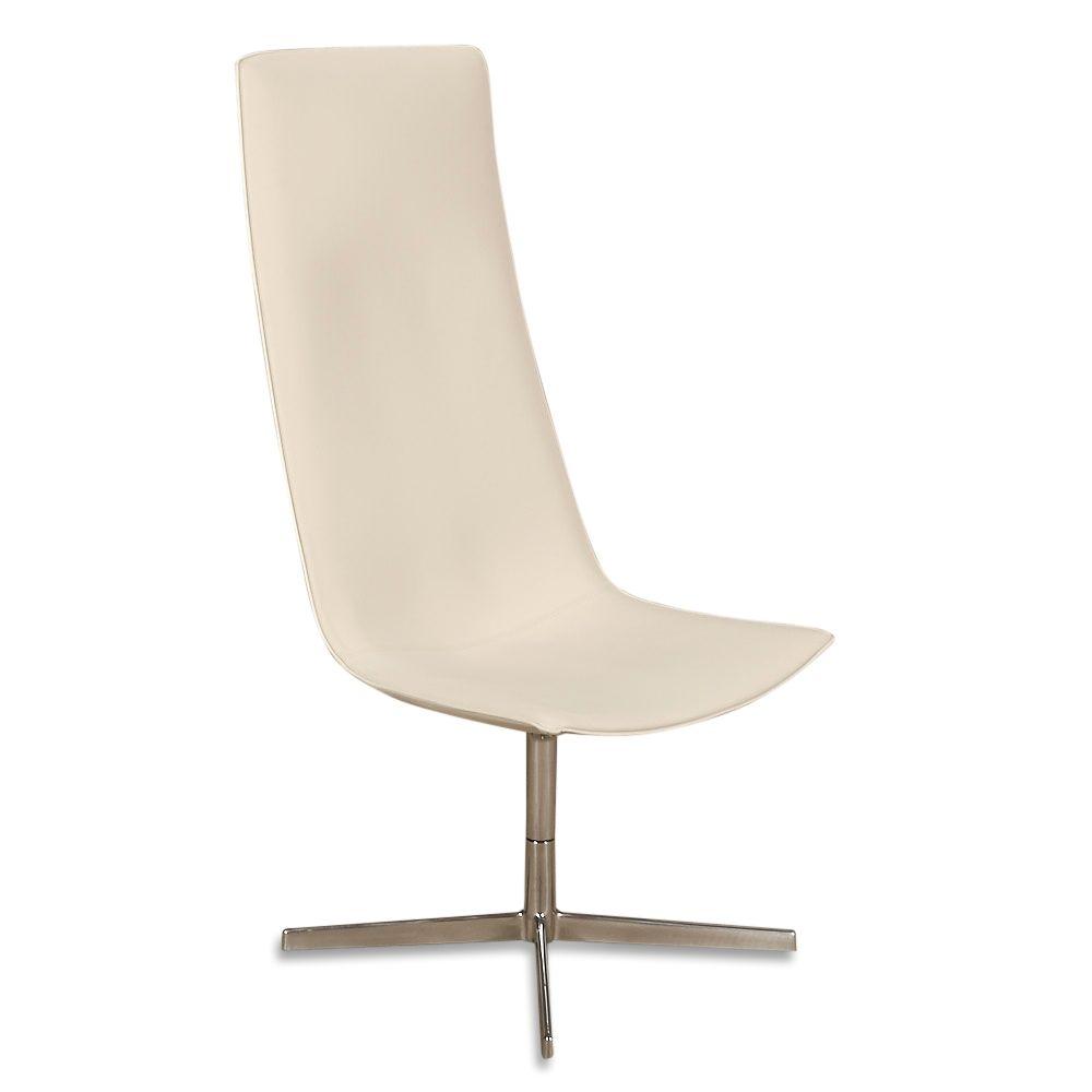 Arper Catifa 70 Loungestol i hvid læder.