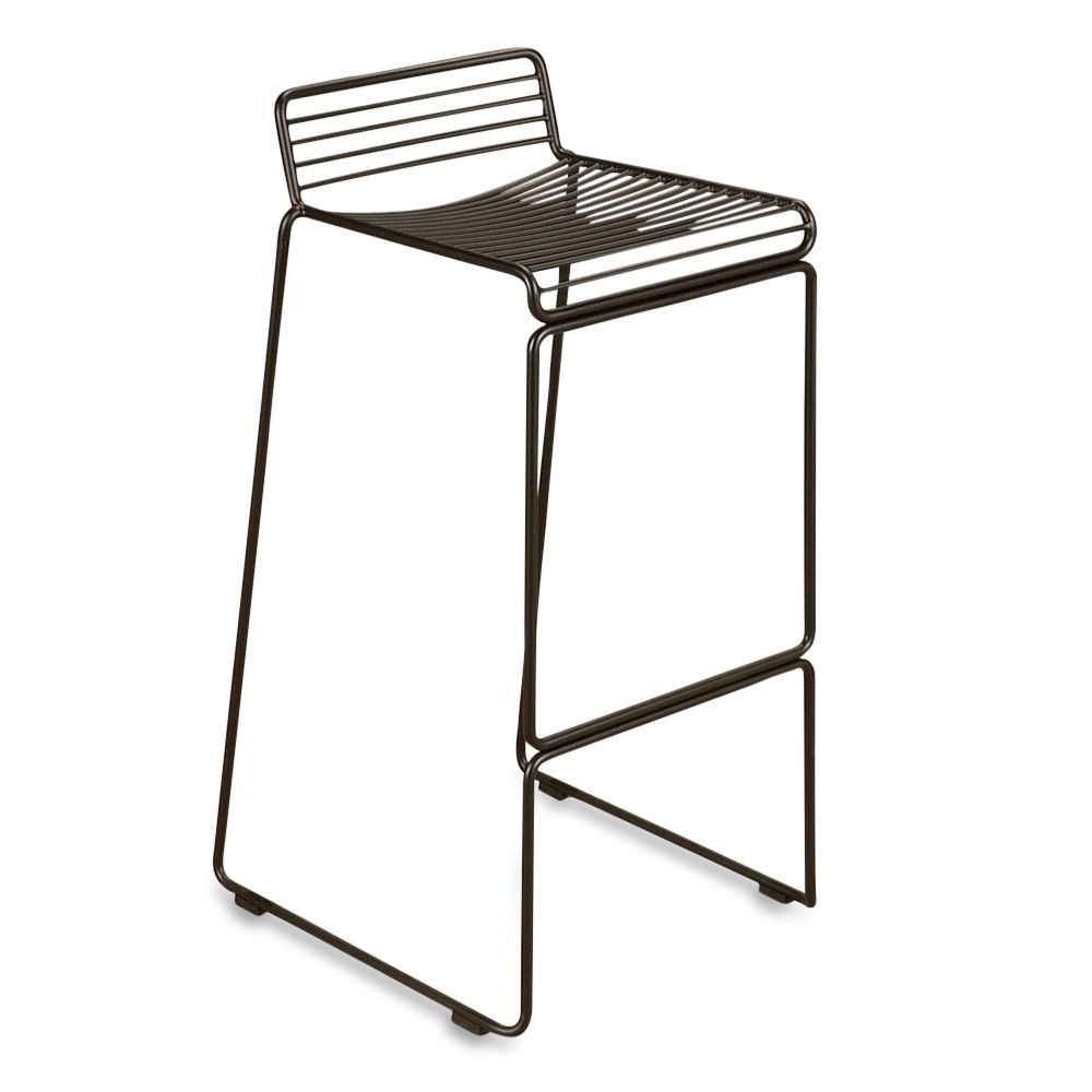 Ryddig HAY Hee Bar barstol i sort metal. DEMO model LH-59