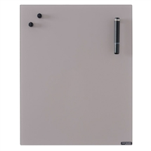 Chat Board Metal Taupe Glastavle