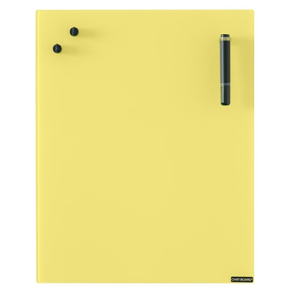 Chat Board Yellow Glastavle