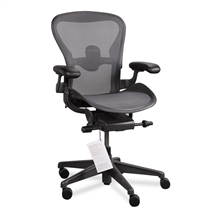 Herman Miller. Aeron. Model B. Sort. DEMO.